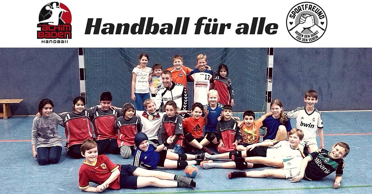 Handball für Flüchtlingskinder in Achim